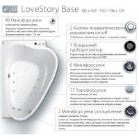 Гидромассажная система LoveStory Base, хром, LSB001