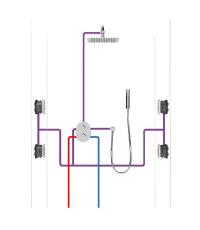 Встраиваемый механизм Ravak для смесителя скрытого монтажа, X070074