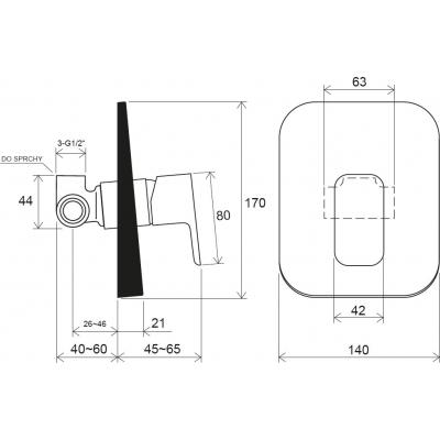Смеситель скрытого монтажа Ravak 10° Free без переключателя TD F 062.00, X070135