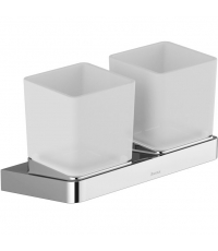 Два стакана для зубных щеток с двойным держателем Ravak 10° X07P322