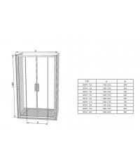 Душевые двери Ravak 10DP4-120 белый, 0ZKG0100Z1