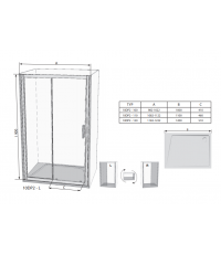 Душевые двери Ravak 10DP4-120 алюминий, 0ZKG0C00Z1