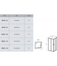 Прямоугольная душевая кабина Ravak 10RV2K-100 белый, 1ZJA0100Z1
