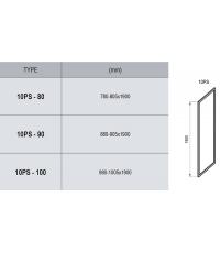 Неподвижная стенка Ravak 10PS-80 алюминий, 9UV40C00Z1