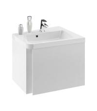 Шкафчик под угловой умывальник Ravak SD 10° 550 R белый, X000000742