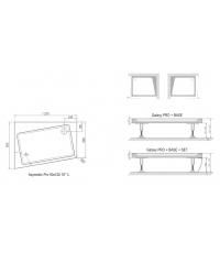 Фронтальная панель ASYMETRIC PRO 120x90 SET R 10°, XA95G70101P