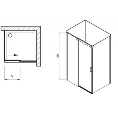 Душевой уголок Ravak Matrix MSDPS-120/90 L полированный алюминий+Transparent, 0WLG7C00Z1