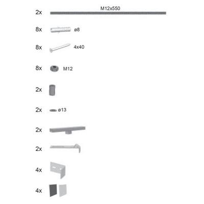 Крепление для панелей Ravak GENTIANO / NEW DAY, B26500000N