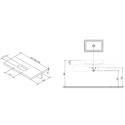 Столешница под умывальник Ravak L 800 белый, X000000830