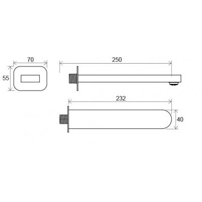 Излив для смесителя Ravak Chrome, X07P113