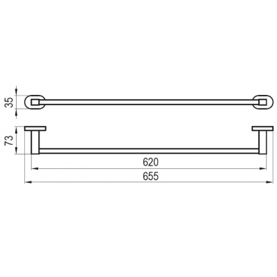 Держатель для полотенца 66 см Ravak CR 310, X07P192