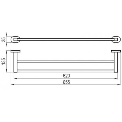 Двойной полотенцедержатель Ravak CHROME, X07P193