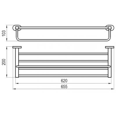 Полка для полотенец с держателем Ravak CHROME, X07P194