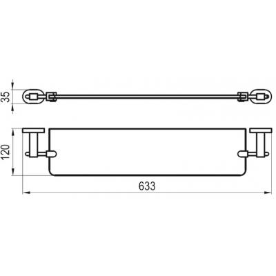 Стеклянная полка для ванной комнаты Ravak CHROME, X07P195
