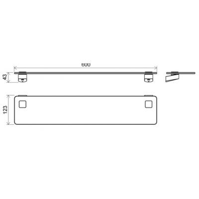 Стеклянная полка для ванной комнаты Ravak 10°, X07P332
