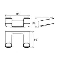 Двойной крючок Ravak 10°, X07P352