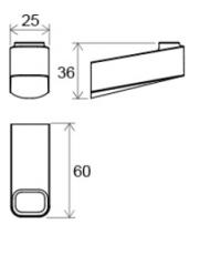 Одинарный крючок Ravak 10°, X07P353