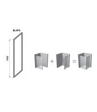 Стенка для душевой кабинки Ravak BLIX Slim BLSPS-90, полированный алюминий + TRANSPARENT, X9BM70C00Z