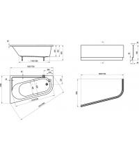Панель для ванны Ravak CHROME 170x105 R, CZA4100A00