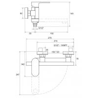 Смеситель для ванны без лейки 150 мм Ravak Chrome CR 022.00/150, X070042