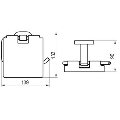 Держатель туалетной бумаги Ravak CHROME, X07P191