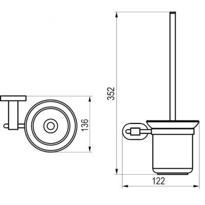 Щетка для унитаза с держателем (стекло) Ravak CHROME, X07P196