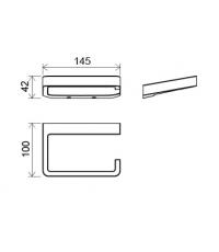 Держатель для туалетной бумаги Ravak 10°, X07P329