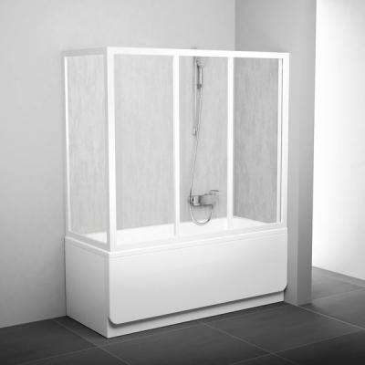 Стенка для ванны Ravak SUPERNOVA APSV-75 Rain, белый профиль, пластик, 9503010241