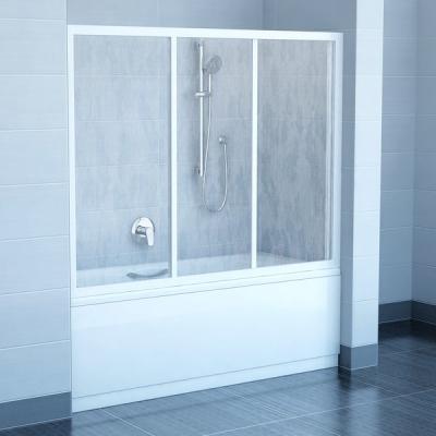 Шторка для ванны Ravak AVDP3 -150 RAIN белый профиль, 40VP010241