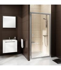 Душевые двери Ravak BLIX BLDP 2 - 100 Transparent, полированный алюминий, безопасное стекло, 0PVA0C0