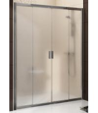 Душевые двери Ravak BLIX BLDP 4 - 120 Transparent, полированный алюминий, безопасное стекло, 0YVG0C0
