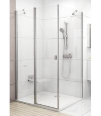 Стенка для душевой кабинки Ravak CHROME CPS - 80 Transparent, полированный алюминий, стекло, 9QV40C0