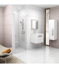 Душевая дверь Ravak CHROME CSD 1 - 90 Transparent, белый профиль, безопасное стекло, 0QV70100Z1