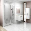 Душевая дверь Ravak CHROME CSD 2 - 120 Transparent, белый профиль, безопасное стекло, 0QVGC100Z1