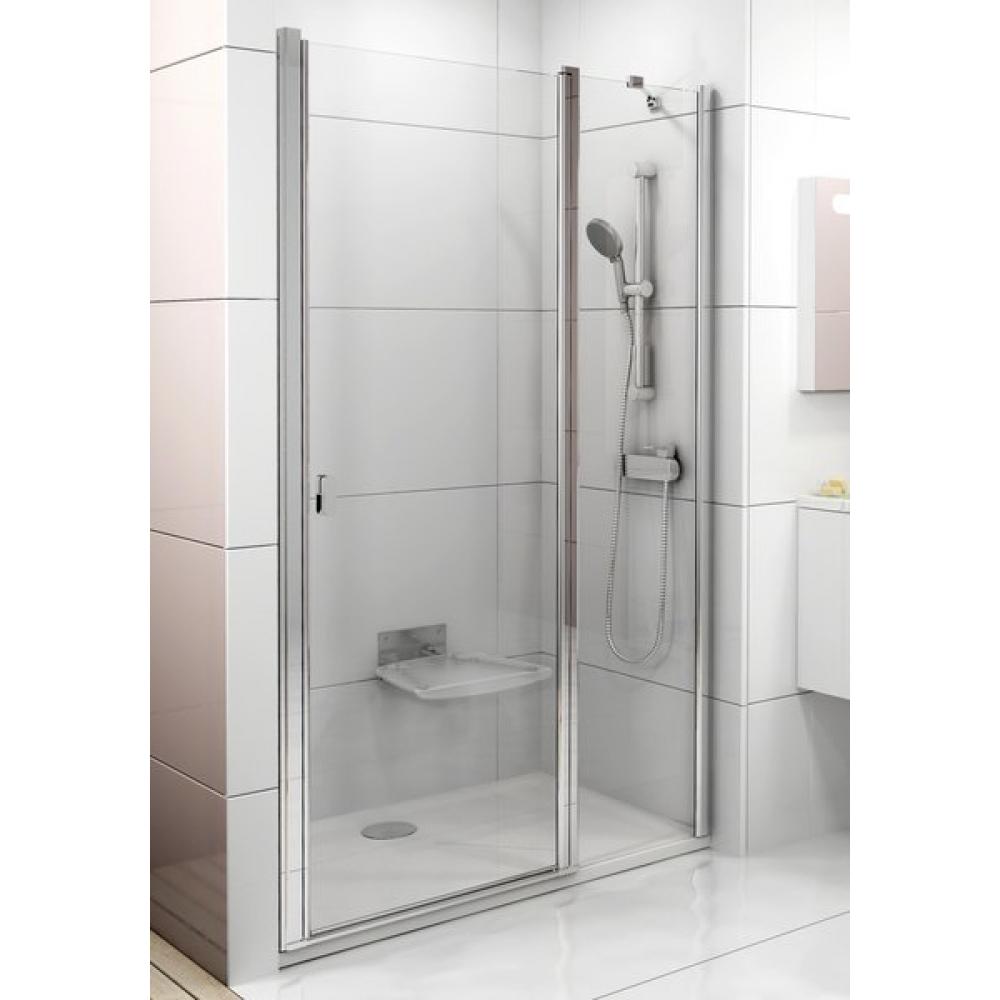 Душевая дверь Ravak CHROME CSD 2 - 110 Transparent, белый профиль, безопасное стекло, 0QVDC100Z1