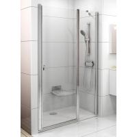 Душевая дверь Ravak CHROME CSD 2 - 100 Transparent, белый профиль, безопасное стекло, 0QVAC100Z1