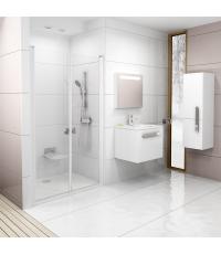 Душевая дверь Ravak CHROME CSDL 2 - 120 Transparent, полированный алюминий, безопасное стекло, 0QVGC