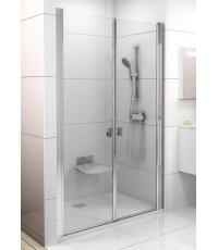 Душевая дверь Ravak CHROME CSDL 2 - 100 Transparent, полированный алюминий, безопасное стекло, 0QVAC