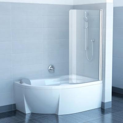 Шторка для ванны Ravak CVSK1 Rosa 160/170 R TRANSPARENT профиль полированный алюминий, 7QRS0C00Y1