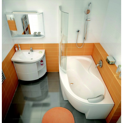 Шторка для ванны Ravak CVSK1 Rosa 140/150 R TRANSPARENT профиль полированный алюминий, 7QRM0C00Y1