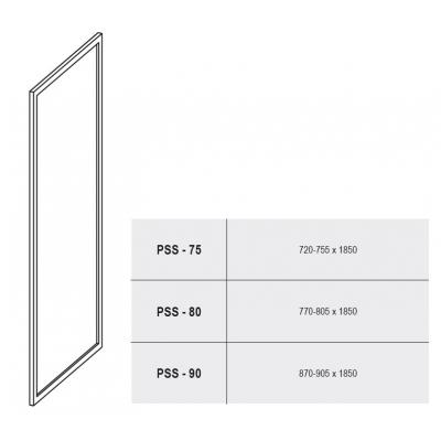 Стенка для душевой кабинки Ravak SUPERNOVA PSS-75 Transparent, белый профиль, стекло, 94030100Z1