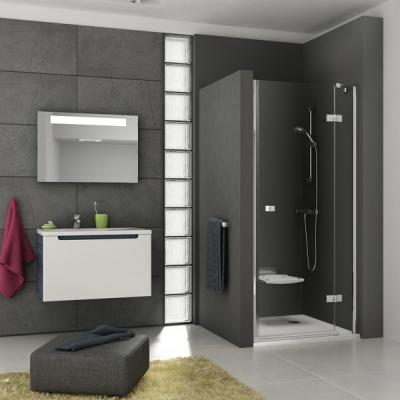 Душевые двери Ravak SMARTLINE SMSD 2 - 90 B-L Transparent, безопасное стекло, хром, 0SL7BA00Z1