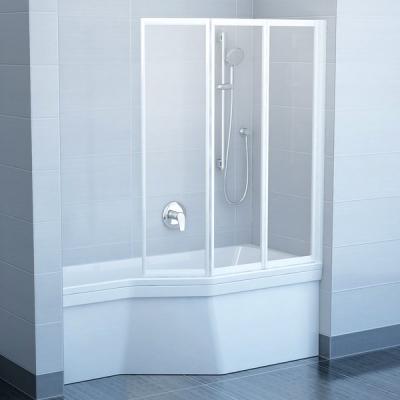 Шторы для ванны Ravak VS3 - 130 TRANSPARENT профиль сатин, 795V0U00Z1