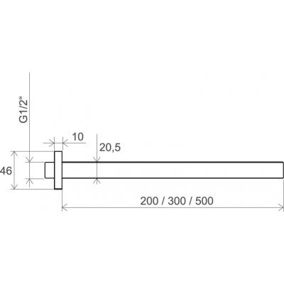 Кронштейн для верхнего душа 20 см Ravak 703.00, X07P178