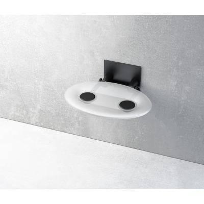 Сиденье для душа Ravak OVO-P, прозрачный/черный, B8F0000042