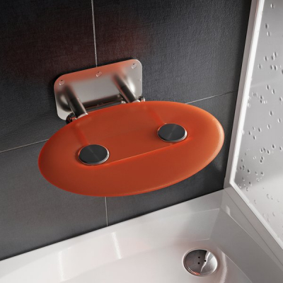 Сиденье для душа Ravak OVO P II Orange, B8F0000050