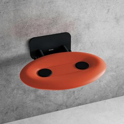 Сиденье для душа Ravak OVO P II, полупрозрачный оранжевый/черный, B8F0000058