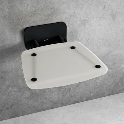 Сиденье для душа Ravak OVO B II, полупрозрачный белый/черный, B8F0000060