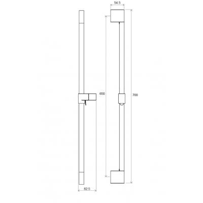 Подвижный душевой держатель 70 см Ravak Chrome 974.00, X07P013