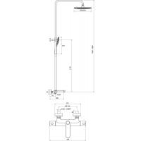 Душевая стойка с термостатическим смесителем и ручным душем Ravak Termo 300, X070098